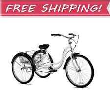 THREE WHEEL CRUISER BIKE Adult Tricycle Bicycle 3 Tire Seat Basket Single Speed
