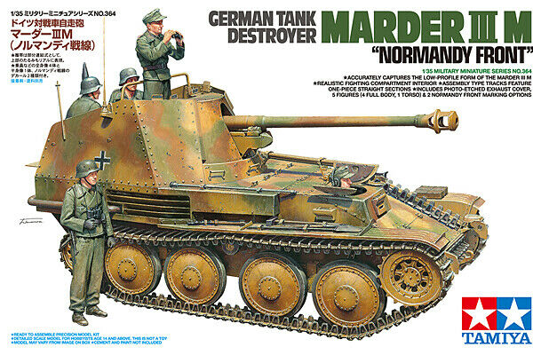 Tamiya 1 35 Scale WW2 German Marder II M Normandy 1944 with 5 crew