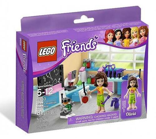 Lego Friends Set 3933 Olivia's Olivia's Olivia's Invention Workshop Building Toy 81 pc NEW Retired be28b0