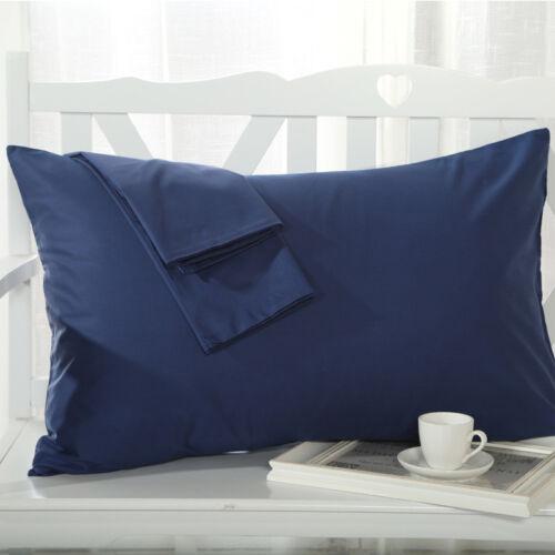1pcs 48x74cm Cotton Pillow Cases Cover Pillowcases Standard Queen Solid Colors