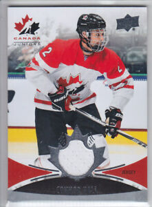2016-17-UD-CANADA-JUNIORS-CONNOR-HALL-JERSEY-132-Game-Used-Canada-Penguins