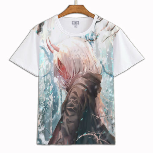 DARLING in the FRANXX CODE:002 White T-shirt Short Sleeve Causal Top Tee New 02