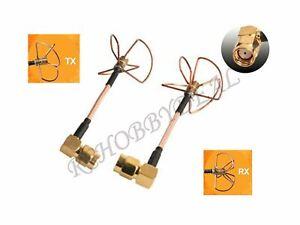 1Pair-5-8Ghz-Antenne-Cloverleaf-TX-amp-RX-RP-SMA-90-for-FPV-Antenne-LHCP-QAV250-210