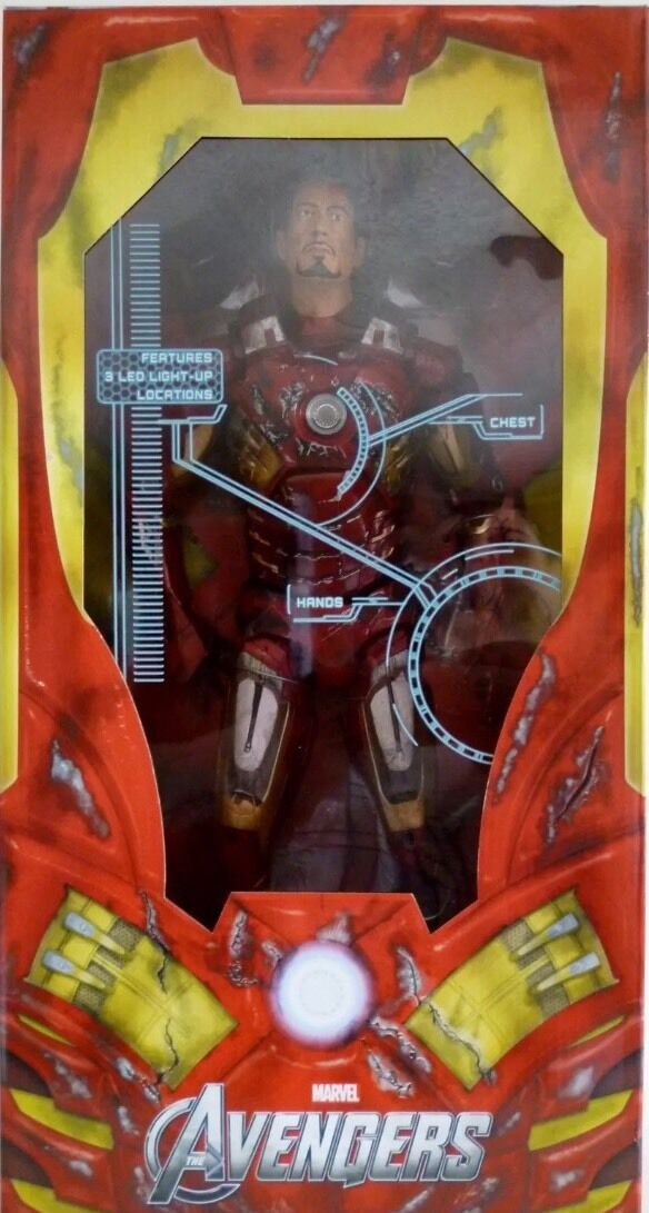 IRON MAN BATTLE BATTLE BATTLE DAMAGED The Avengers 18  inch 1 4 Scale Movie Figure Neca 2013 ddfb54