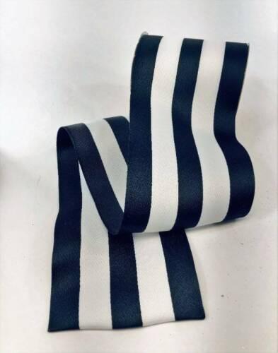 "Black White Wide Stripe 4/"" Wired Edge Ribbon 3 Yards"