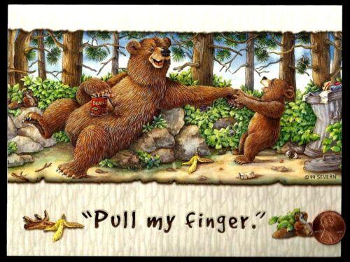"BIRTHDAY Bears /""Pull My Finger/""  By Jeffrey Severn BIRTHDAY Greeting Card"