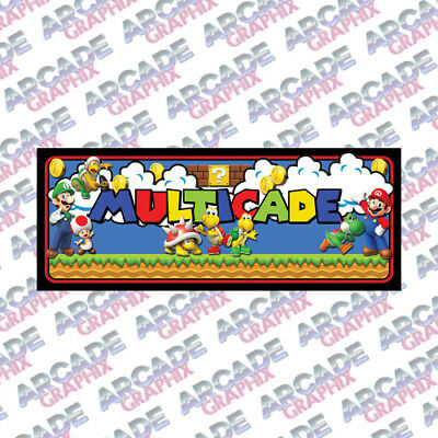 Multicade Mario Series Arcade Cabinet Game Graphic Artwork Marquee