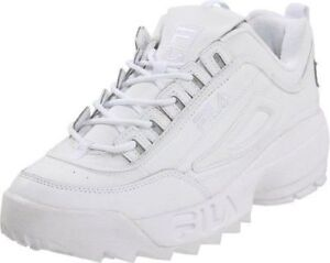 Hommes-Fila-Disruptor-II - synthétique-Fw01655-148 - Blanc-Blanc - 100-Authentique-Brand-New