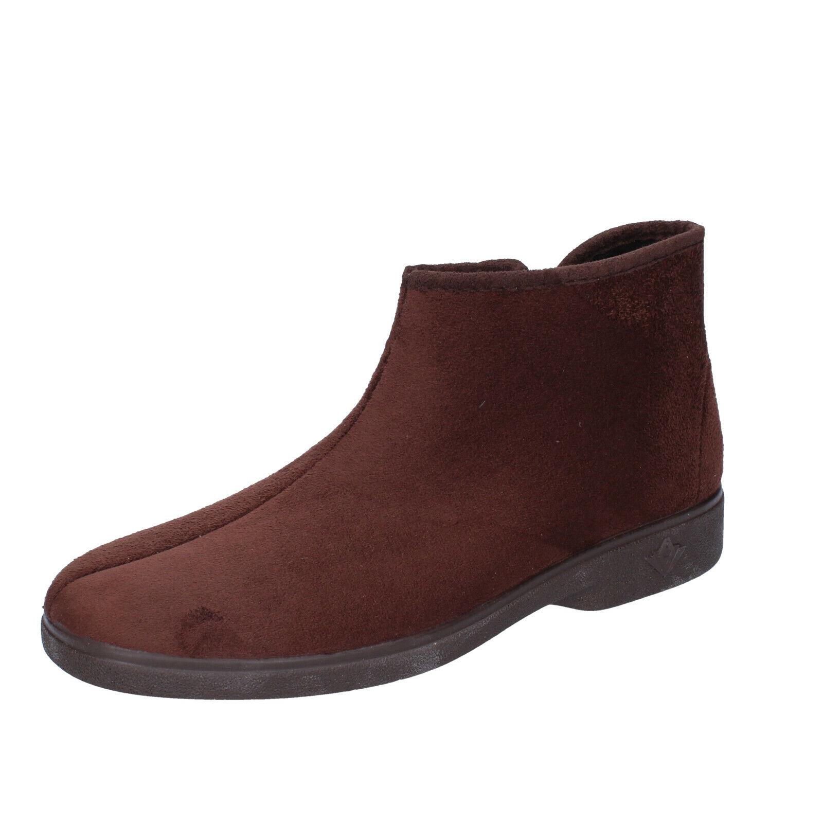 Men's Shoes MAURI MODA 44 Eu Slippers Brown Suede Synthetic BN911-44