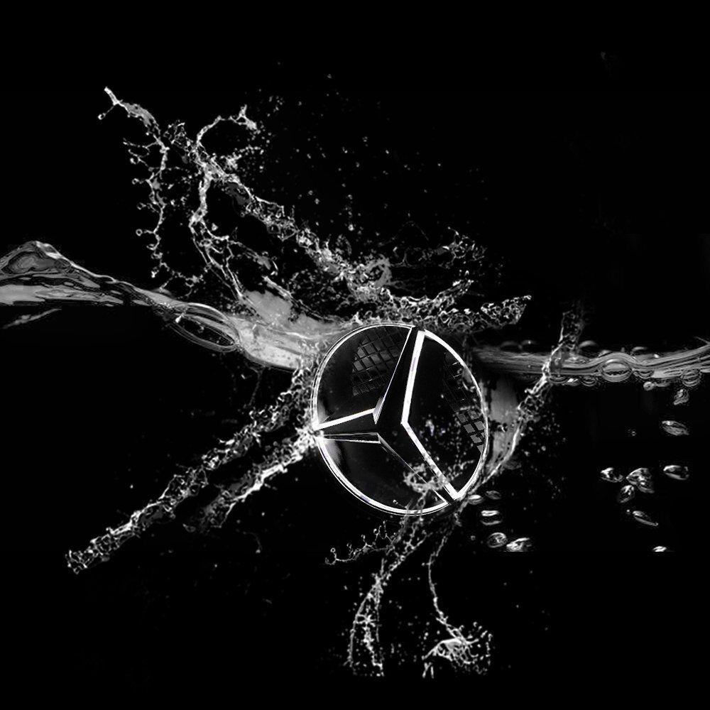 Mercedes Benz 2011 2018 Led White Light Car Star Logo Badge Emblem