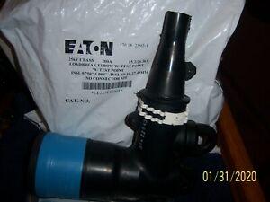 NEW EATON 25kV LOADBREAK ELBOW w// TEST POINT LE225-AB-00T LE225AB00T 200A