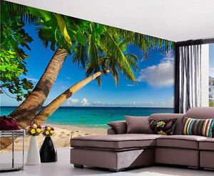 Image Is Loading Palm Trees Tropical Island Full Wall Mural Photo  Part 94