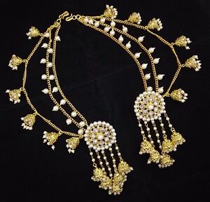 Image Is Loading Indian Women Bridal Earrings 18k Gp Devsena Latest