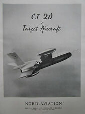 8/1958 PUB NORD AVIATION ENGIN CIBLE CT.20 TARGET AIRCRAFT DRONE ORIGINAL AD