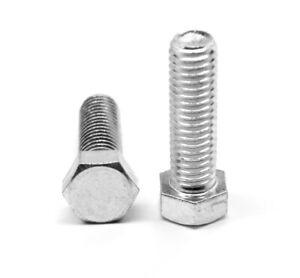 3 8 16 X 6 Ft Coarse Grade 5 Hex Tap Full Thread Bolt Zinc Plated Ebay
