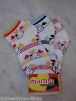 Mamia Fashion Bears Socks Low Ankle Womens 6 Pairs. Size 9-11. Free Shipping.