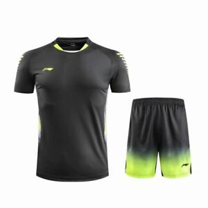 New Li-Ning men's Tops tennis/badmint<wbr/>on table tennis Clothes Tee shirts+shorts