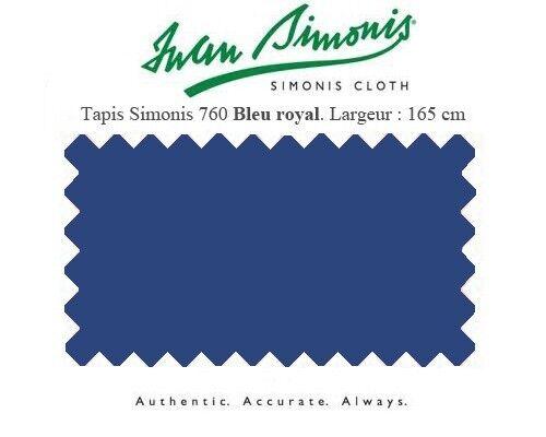 Tapis drap de billard  7Ft 210x165 US Simonis 760 bleu royal  Réponses rapides