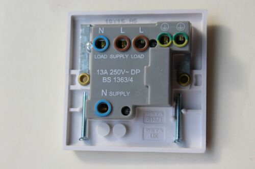 "Neon /""Bathroom Mirror Demister/"" DETA s1371 Slimline White 13 a Switched FCU"