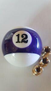 Purple-stripe-12-twelve-pool-ball-gear-knob-shift-stick-universal