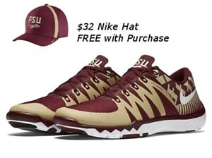 buy popular 2ad9f 1df32 Details about FLORIDA STATE SEMINOLES FSU NIKE FREE TRAINER 5.0 V6 AMP SZ  8.5 W/ FREE NIKE HAT