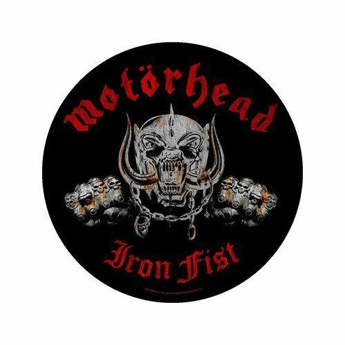 Motorhead Iron Fist Round Noir Sew On Back Patch Badge Album Couverture Officiel
