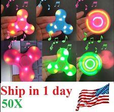 50x Bluetooth Speaker LED Fidget Spinner Hand Spinner Pair Phone Plays Music 12