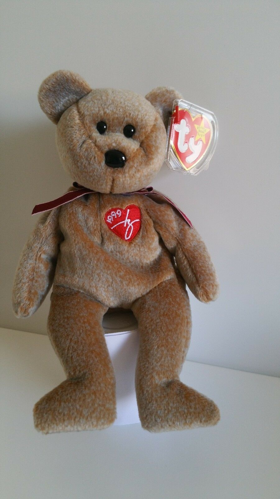 Signature 1999 Bear  Ty Beanie Baby - Rare Retired BB Bear 01 Sign 99