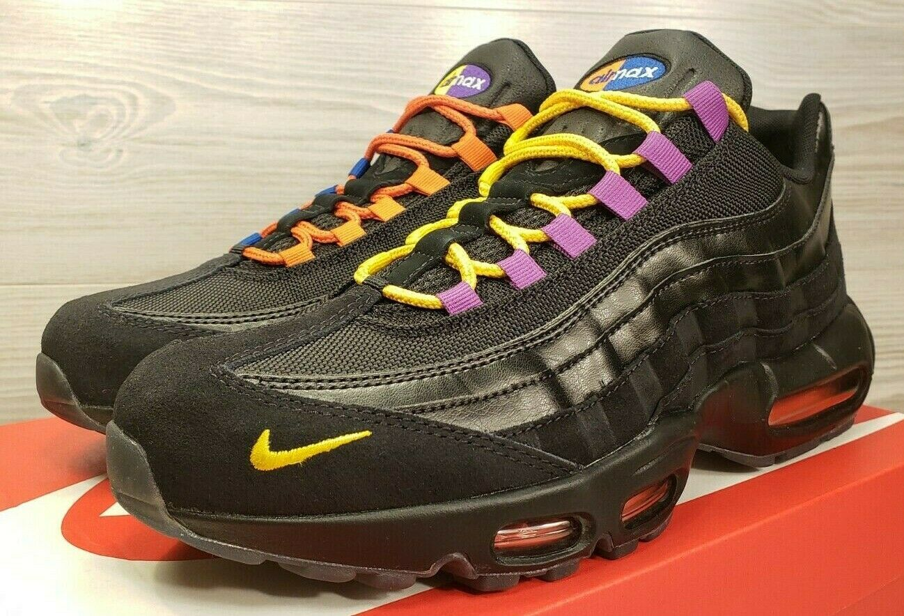 "Nike Air Max 95 PRM ""Los Angeles"" VS ""New York City"" Black AT8505-001  Size 10.5"