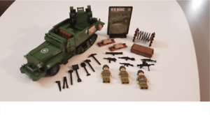 WW2 226 Pcs Japanese Army Truck 3 pcs Miniifgures Soldiers Weapons lego MOC 2020