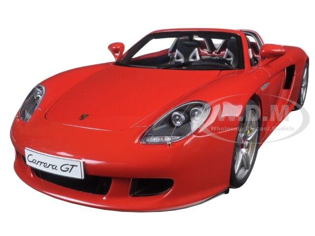 Porsche Carrera Gt Rojo  Diecast Model Car By Autoart 78044