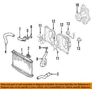 toyota oem 01 05 rav4 radiator coolant lower hose 1657228030 ebay rh ebay com toyota camry cooling system diagram toyota hiace cooling system diagram