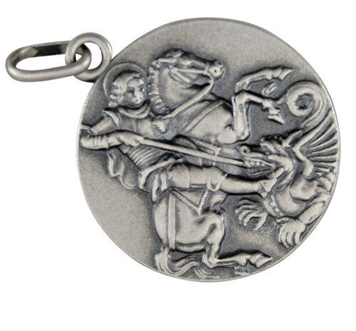 Santo Georg matadragones Colgante de Plata 925 colgantes de Santa b399