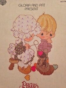 Precious-Moments-Sew-In-Love-Gloria-Pat-Counted-Cross-Stitch-18-Patterns-Booklet