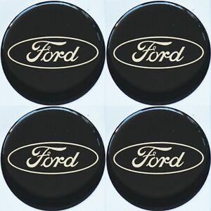 Ford-Emblem-SCHWARZ-Felgen-Aufkleber-Logo-Nabendeckel-Nabenkappen-Embleme-4x56mm