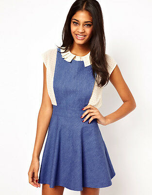 JOHN ZACK PINAFORE DRESS IN DENIM - RRP £35 - BNWT