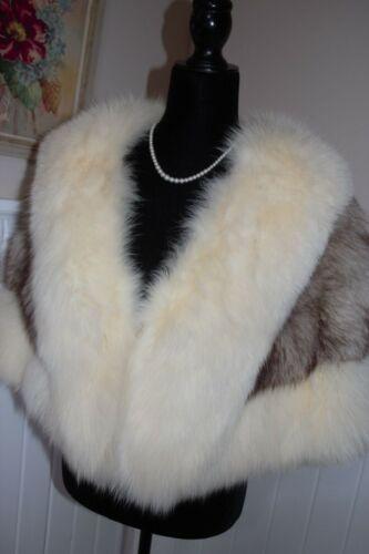 Genuine Fox Fur Stole Wrap Coat