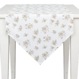 Excellent Details About Clayre Eef Roses Table Runner 50X160 Shabby Chic White Beige Cottage Vintage Download Free Architecture Designs Remcamadebymaigaardcom