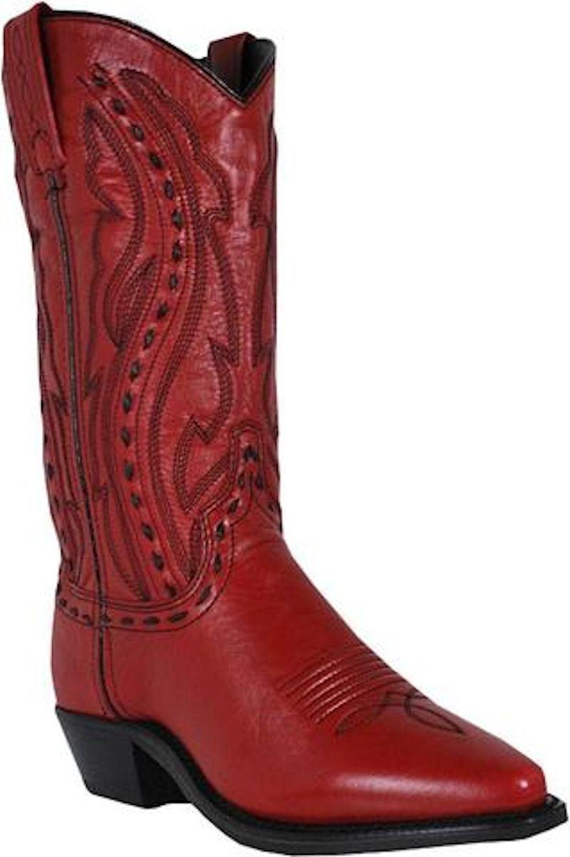 Abilene 9002 Women Red Garment Laced Leather 11