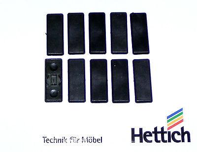 10 Stück Hettich schwarze Abdeckklappen für Topfbänder Sonderposten ca.34x13x2mm