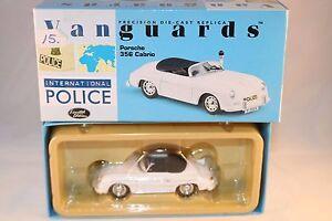 Vanguards-Corgi-VA07901-Porshe-356-Cabrio-Autobahn-Polizei-1-43-mint-in-box