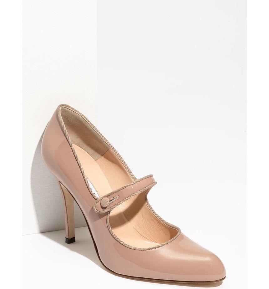 buona qualità MANOLO MANOLO MANOLO BLAHNIK CAMPY TIMELESS NUDE PATENT MARY JANE PUMPS EU 42 I LOVE scarpe  prodotti creativi