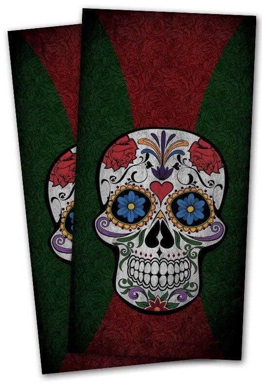Candy  Skull Cornhole Wrap Decals Bag Toss 3M Vinyl 24x48   quality guaranteed