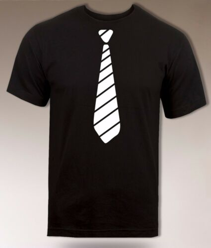 Funny Tie T shirt Cool Party Fancy Fashion Tee Novelty Simple Gift Top