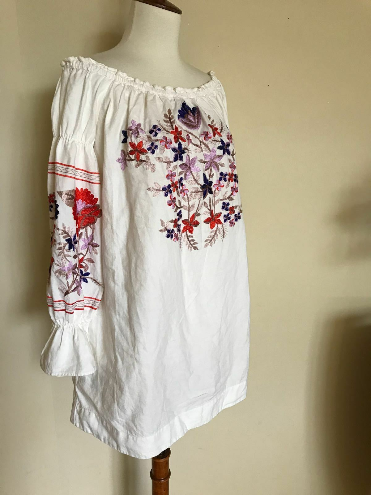 Free People Fleur Fleur Fleur Du Jour Mini Dress, White, Size S 4945b0