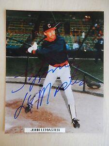 "Johnnie LeMaster Autographed 8"" X 10"" Photograph"