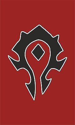 Warcraft Flag   Horde Banner   3x5 Ft / 90x150 cm   Long Lasting Flag