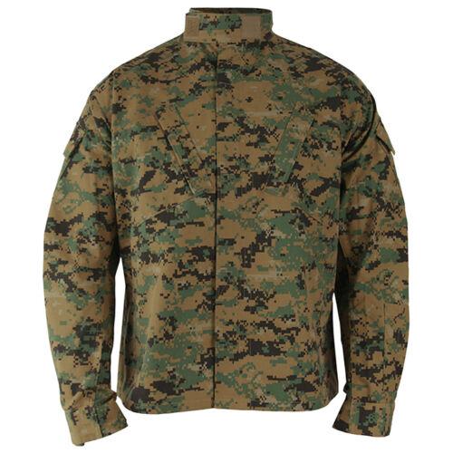Propper ACU Coat Mens Tactical Teflon Cadet Patrol Shirt Digital Woodland Camo