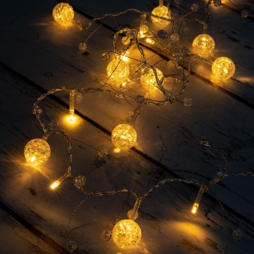 West Ivory 20 LED String Fairy Lights Multi Color Deco Indoor Outdoor Warm White