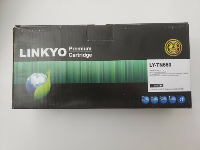LINKYO Compatible Toner Cartridge Replacement for Brother TN660 TN-660